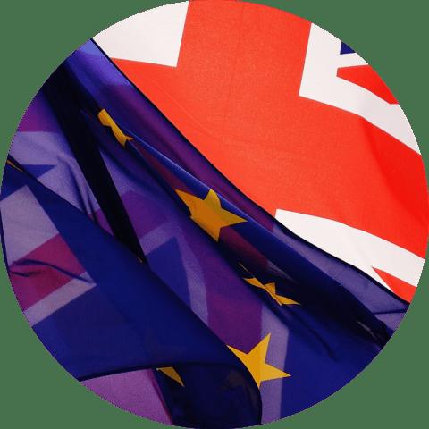 EU und UK Flagge
